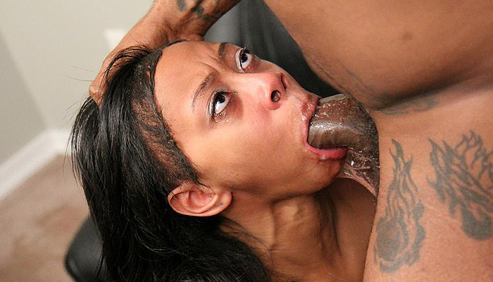 Angel Starr Chokes on a Cock